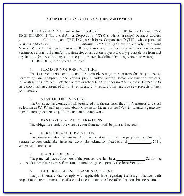 Mou Business Partnership Agreement Template