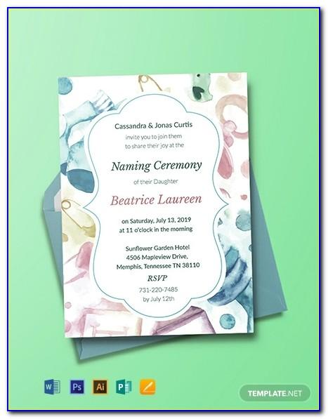 Naming Ceremony Invitation Maker Free