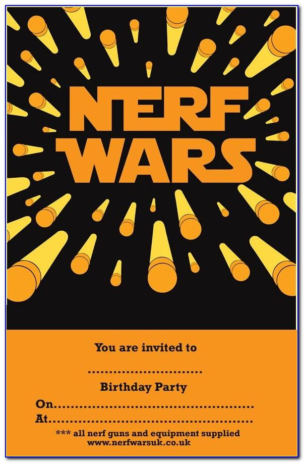 Nerf War Party Invitation Free Template