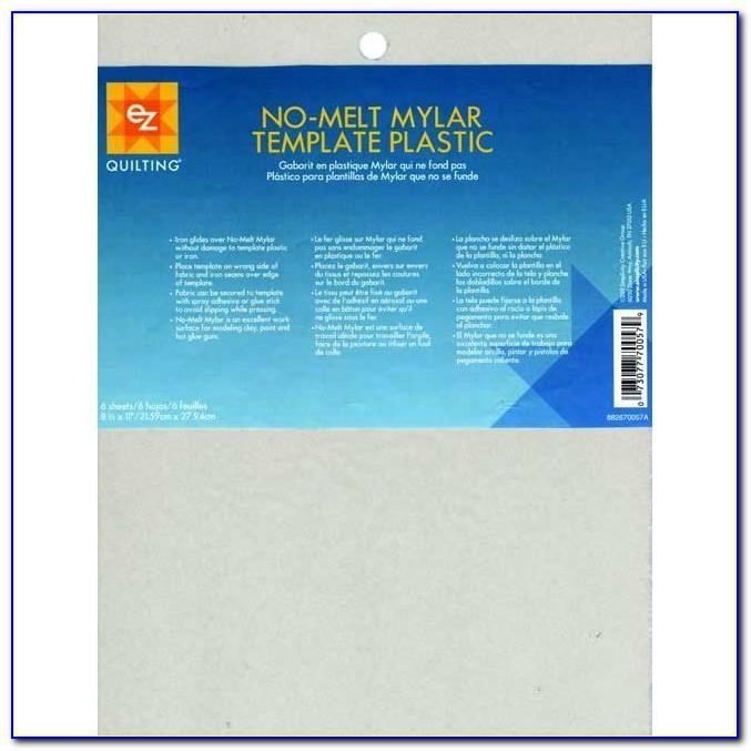 No Melt Mylar Plastic Template Sheets