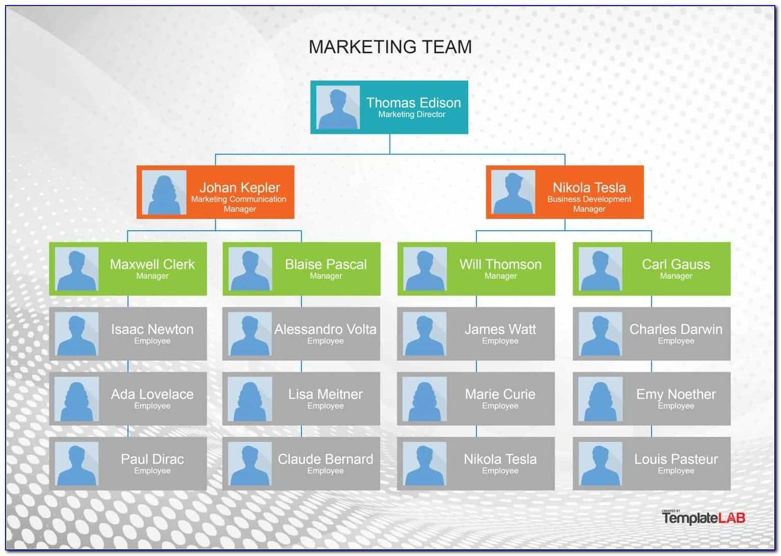 Org Chart Ppt Template Free