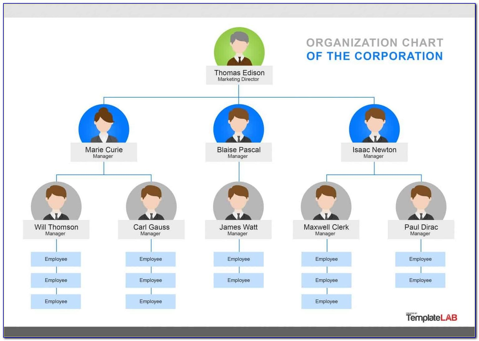 Organizational Charts Templates In Excel