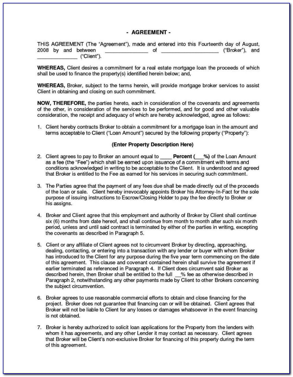 Owner Finance Agreement Template Free