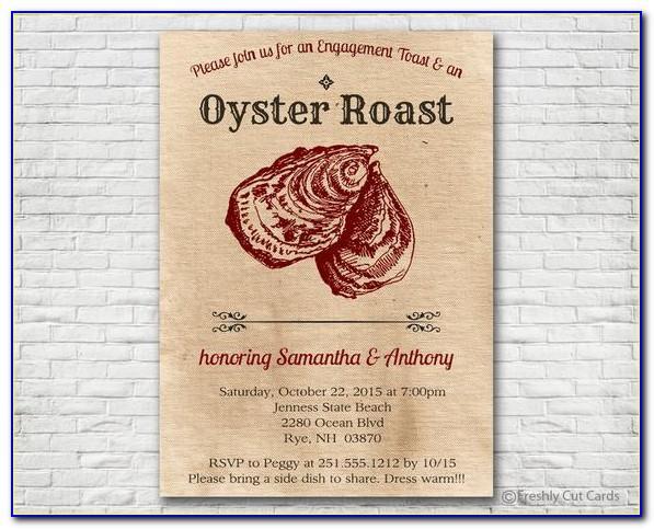 Oyster Roast Invitation Template Free