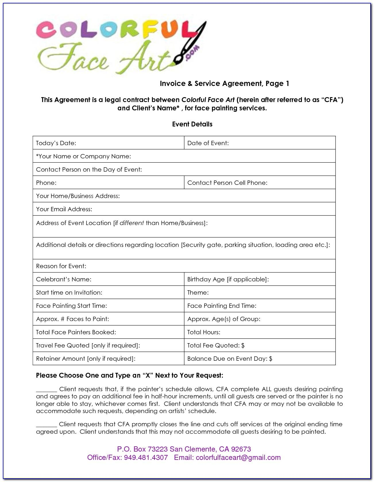 Painting Contract Template Doc
