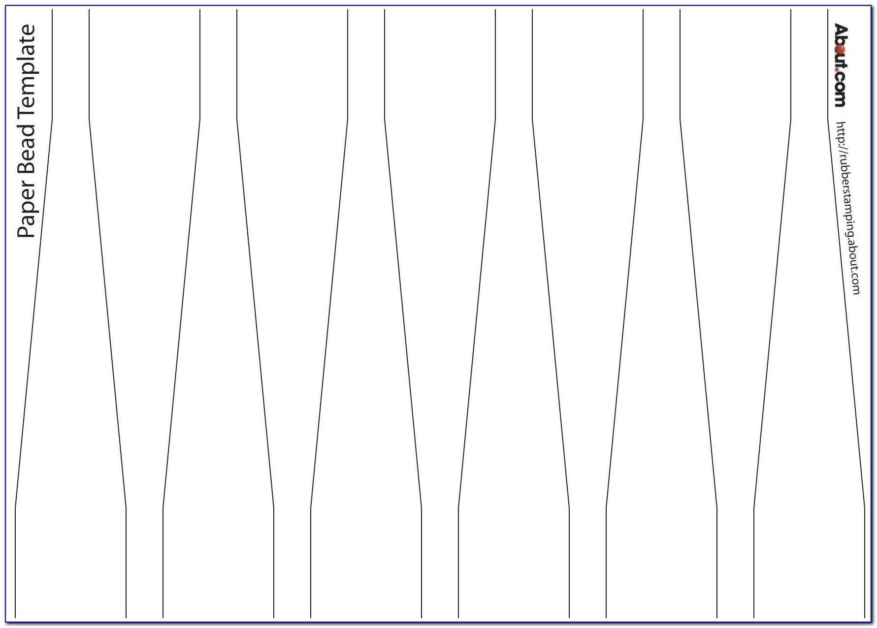 Paper Bead Cutting Templates