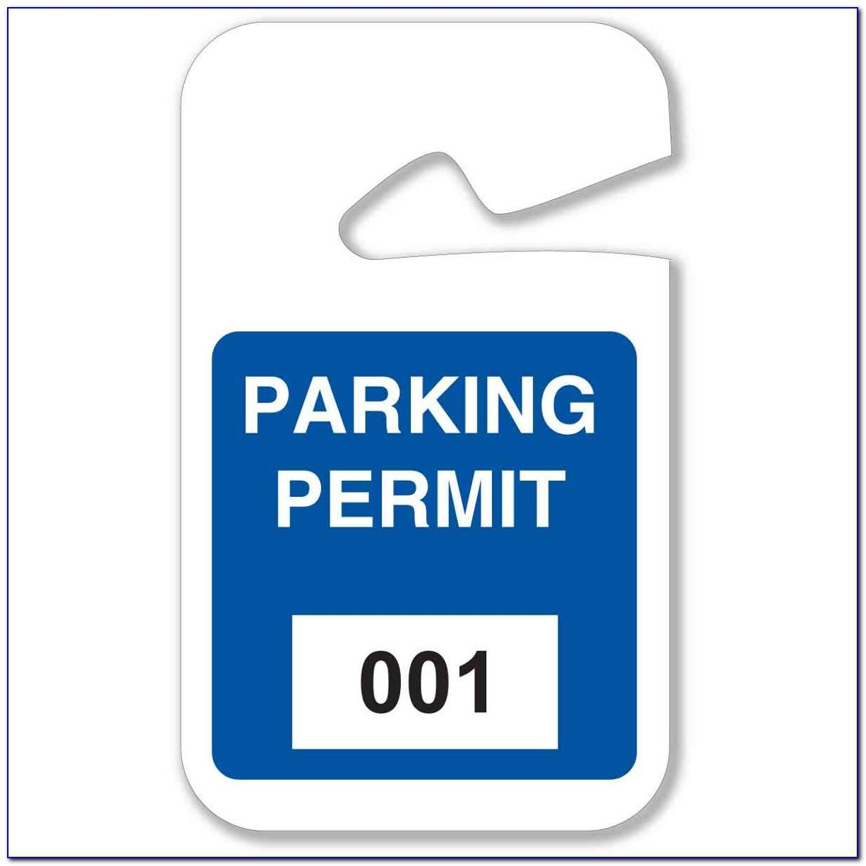 Parking Placard Template
