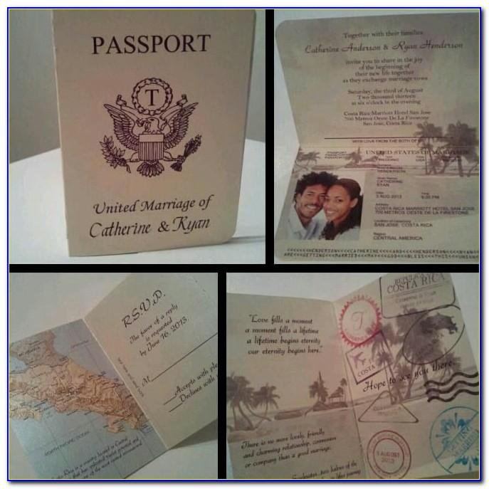 Passport Style Wedding Invitation Template