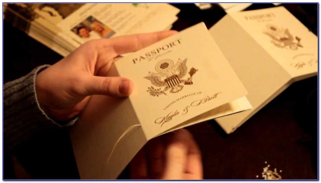 Passport Wedding Invitation Format