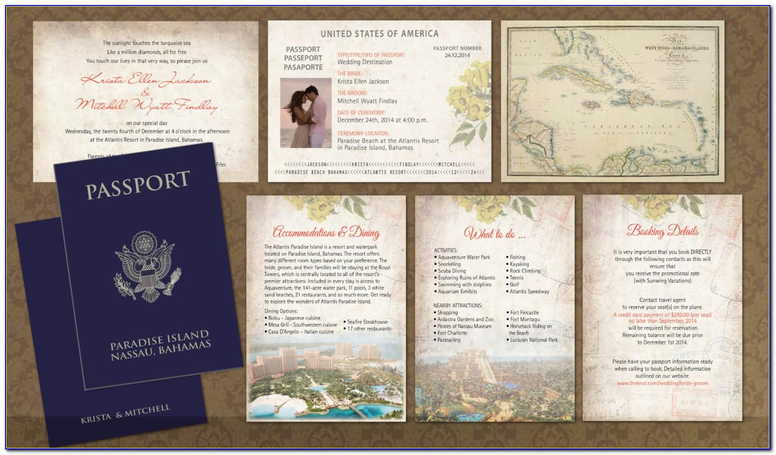 Passport Wedding Invitation Templates
