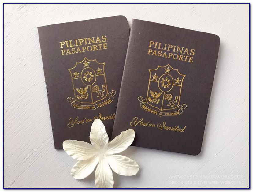 Passport Wedding Invite Template