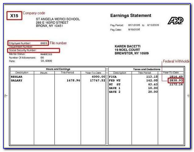 Pay Stub Template For Microsoft Word