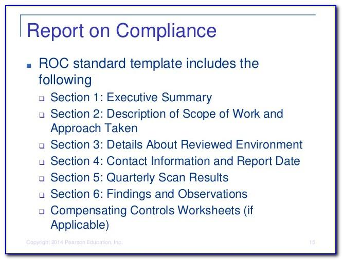 Pci Dss Report On Compliance Template