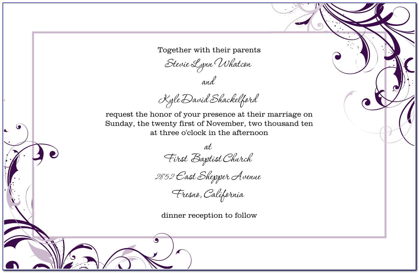 Pdf Invitation Templates Free