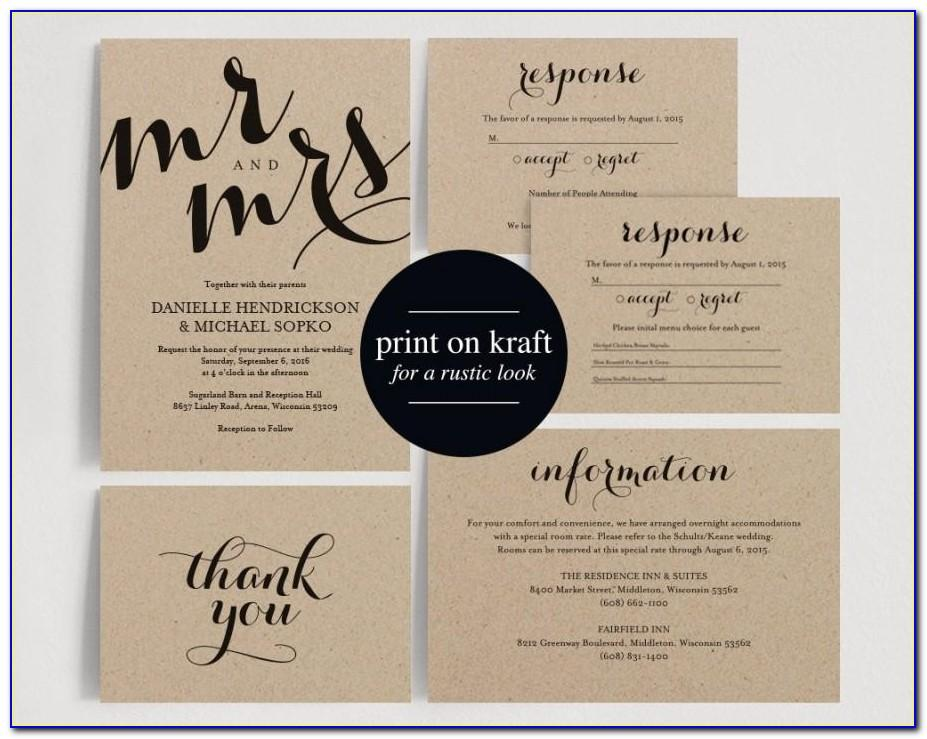 Pdf Wedding Invitation Templates Free