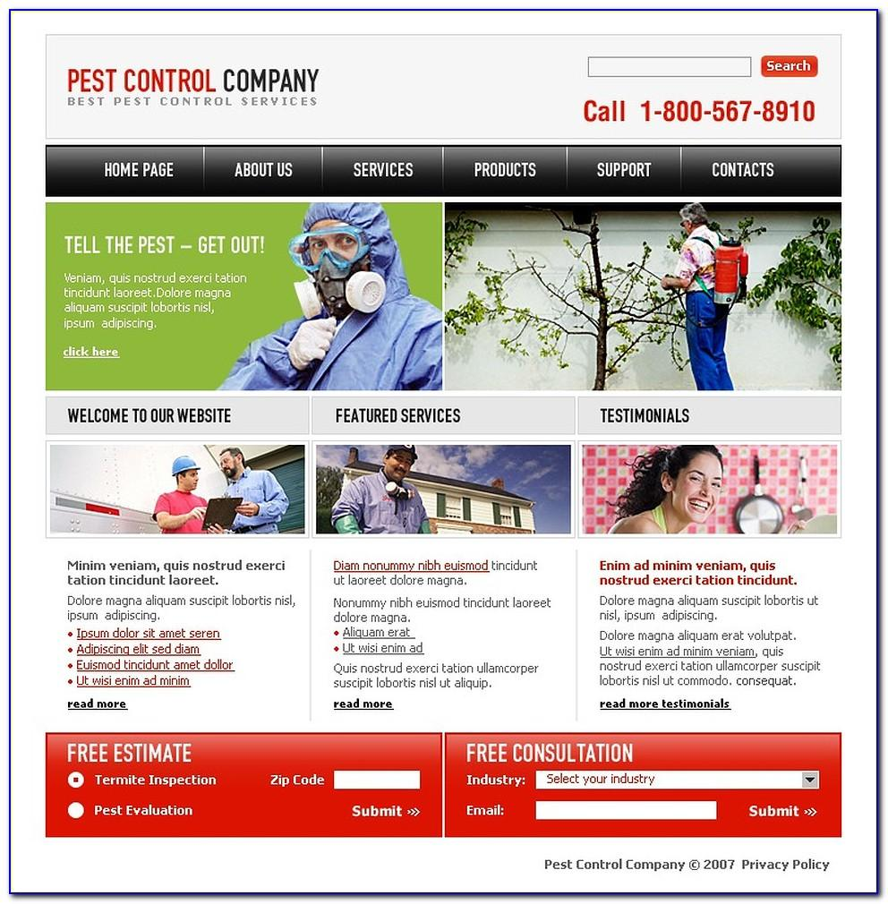 Pest Control Website Design Templates