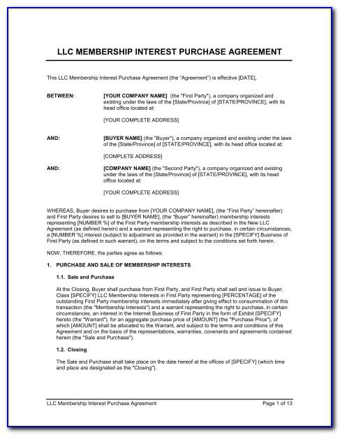 Phantom Stock Agreement Form