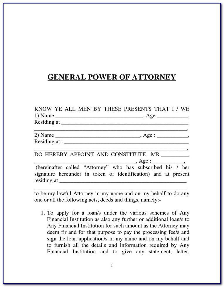 Power Of Attorney Template South Africa
