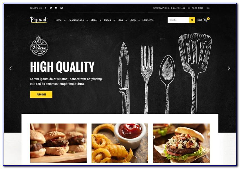 Premium Wordpress Themes For Restaurants
