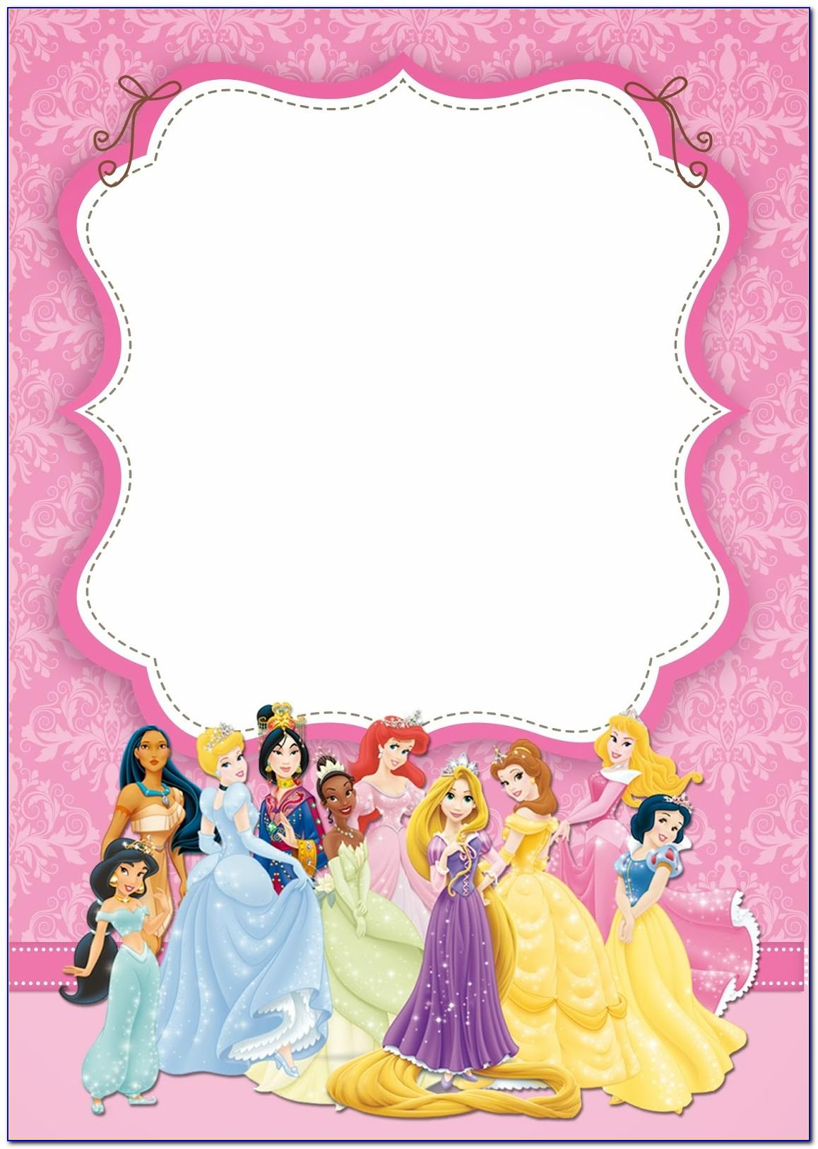 Princess Birthday Invitations Templates