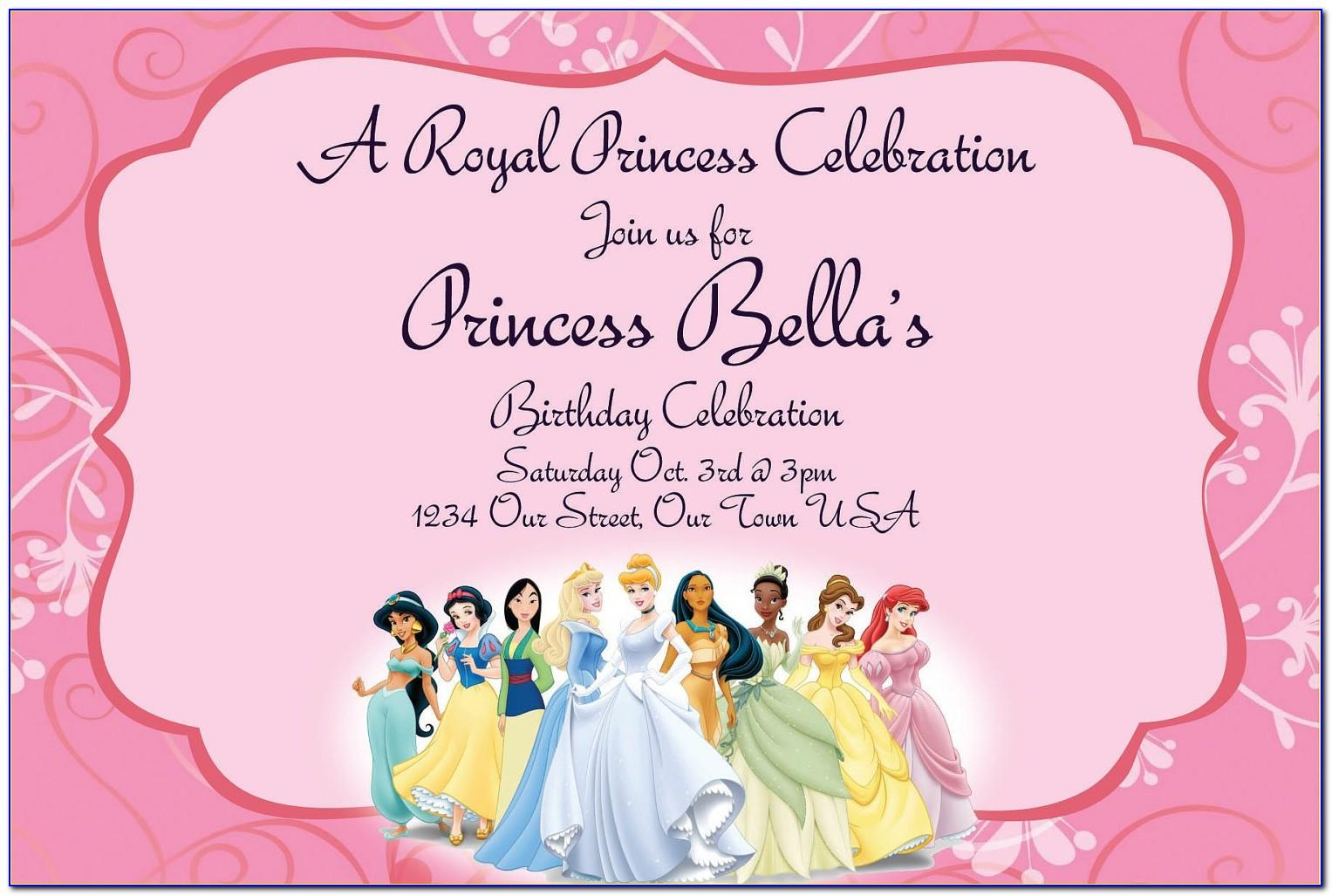 Princess Invitations Templates Free