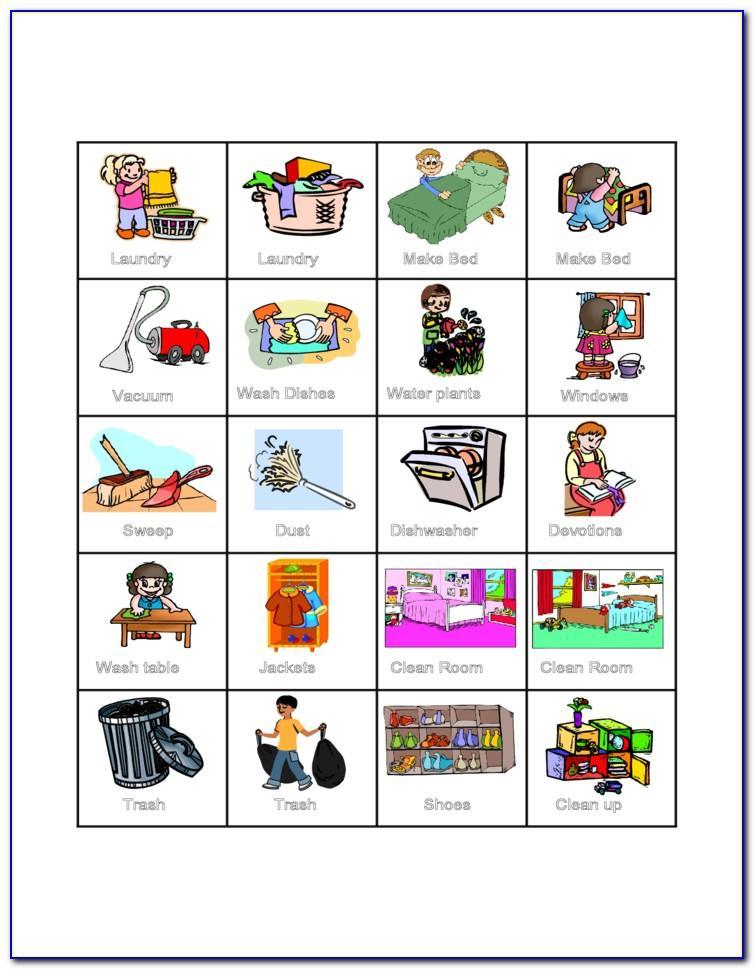 Printable Children's Chore Chart Template
