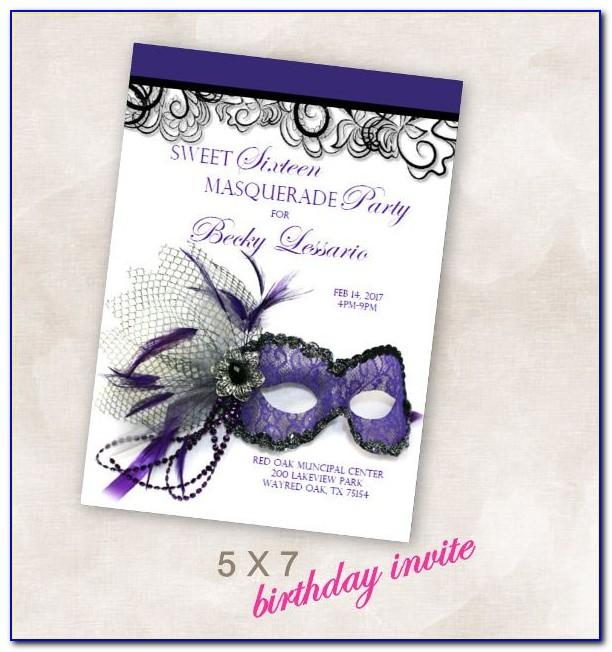 Printable Masquerade Party Invitations Templates