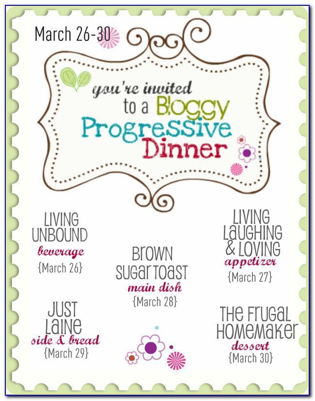 Progressive Dinner Invitation Template Free
