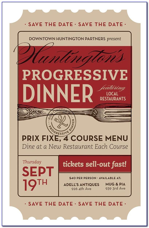 Progressive Dinner Invitation Wording