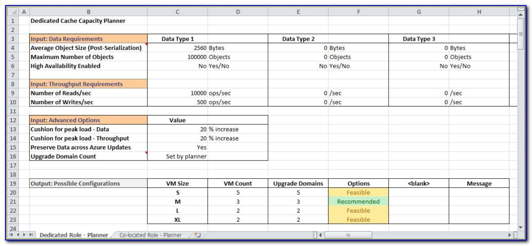 Project Resource Capacity Planning Excel Template