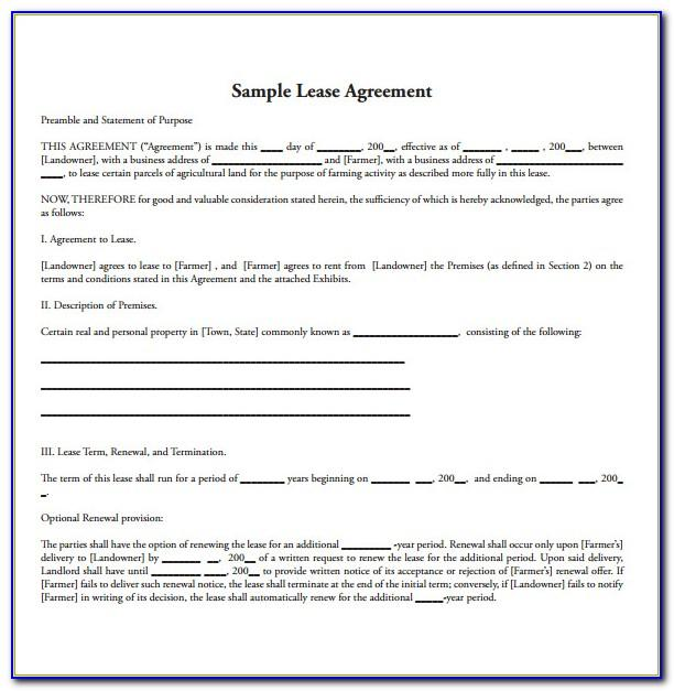 Property Lease Agreement Template Texas
