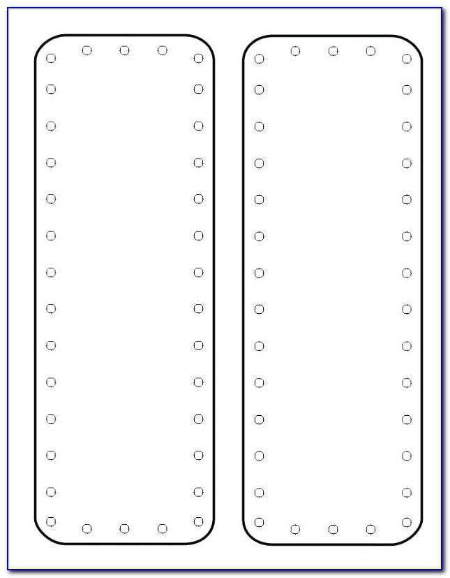 Publisher Double Sided Bookmark Template