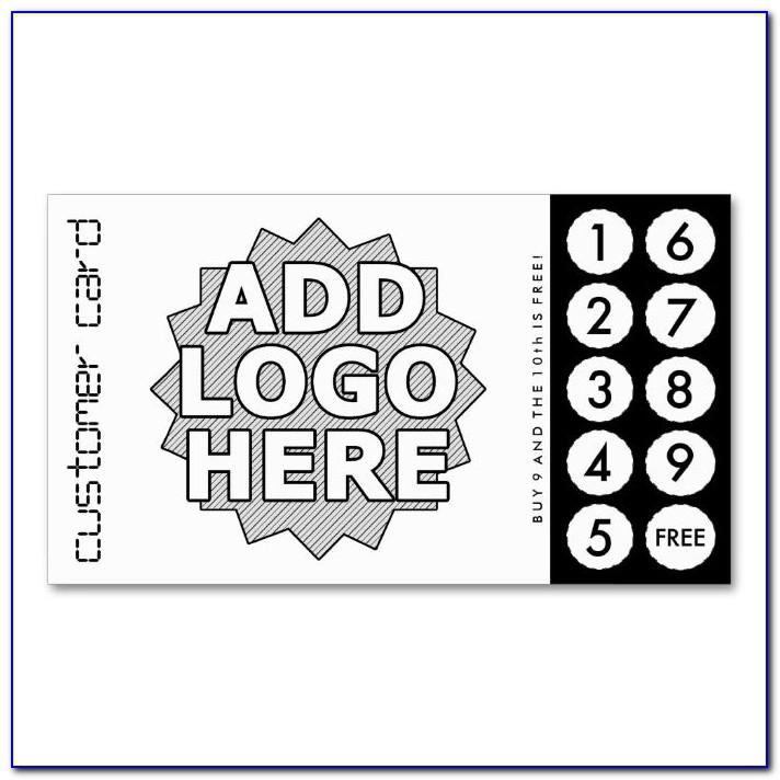 Punch Card Design Template