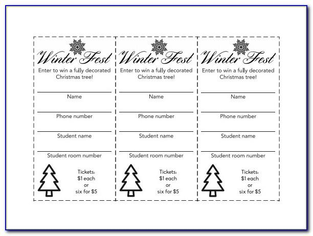 Raffle Ticket Template Pdf Free