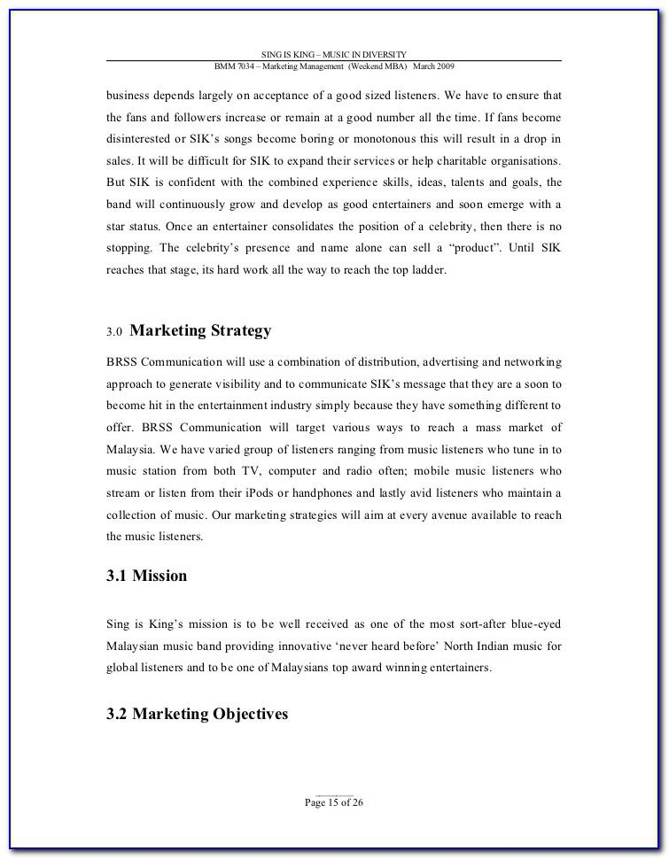 Recording Studio Business Plan Template