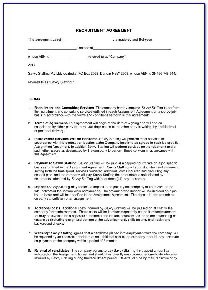 Recruiter Contract Template