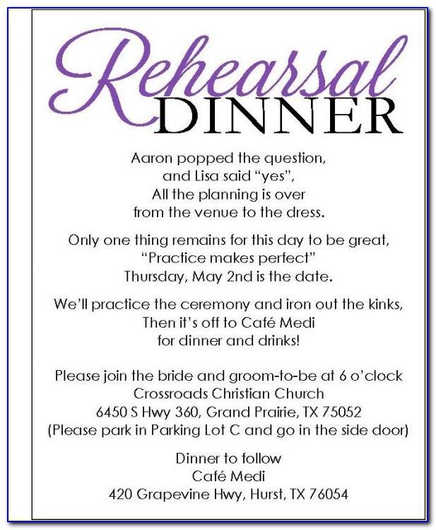 Rehearsal Dinner Invitations Templates