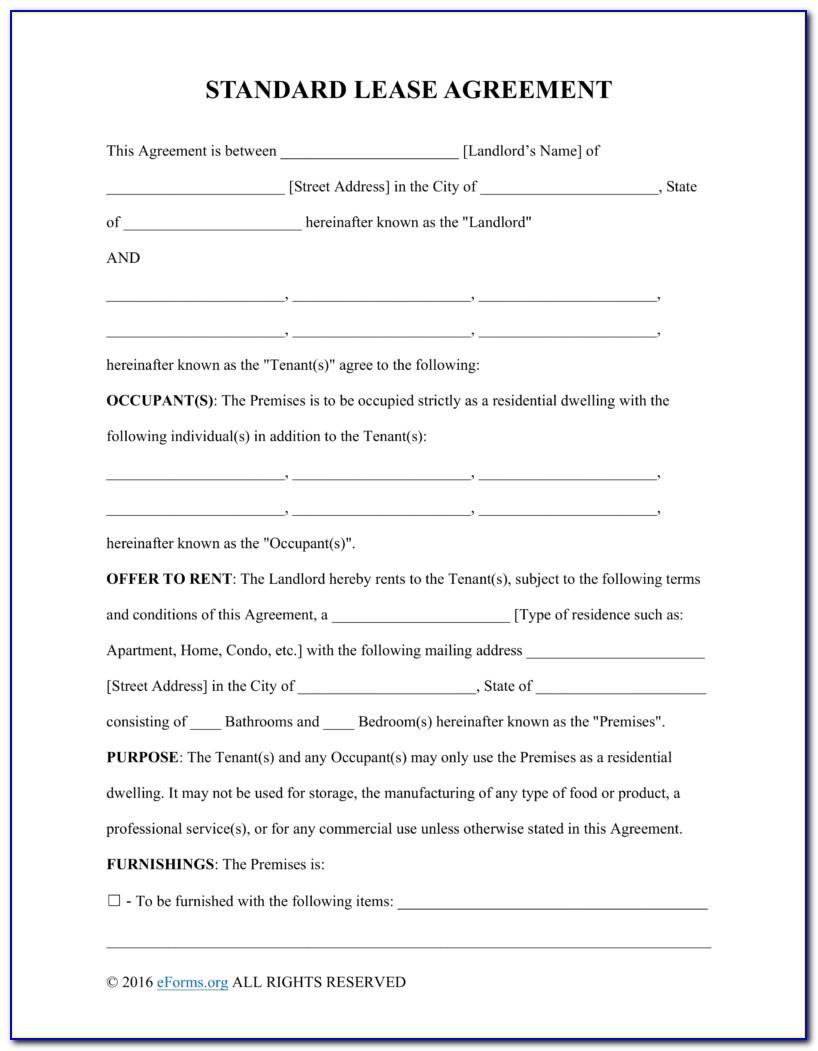 Residential Lease Agreement Samples