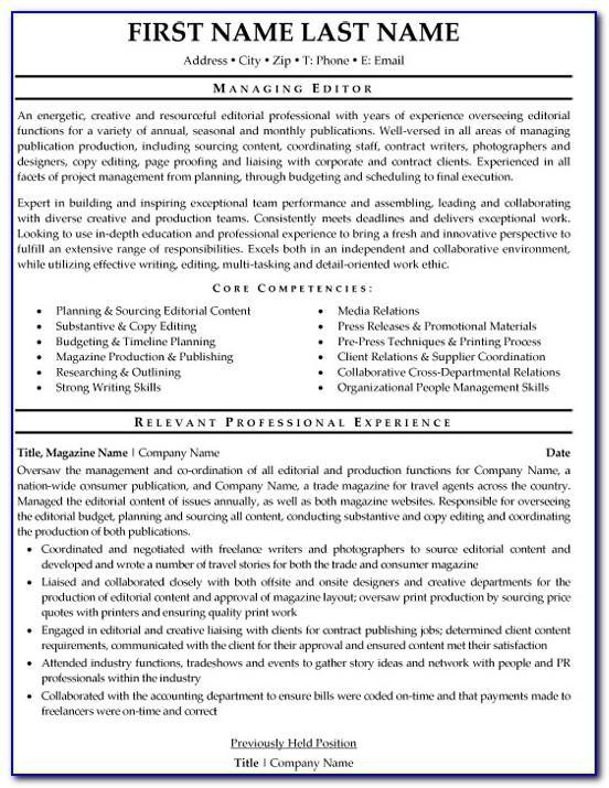 Resume Template Online Editor
