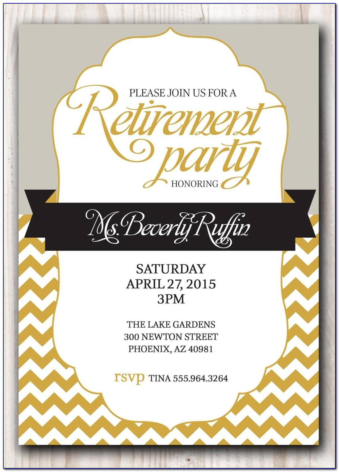 Retirement Party Invitations Template Free