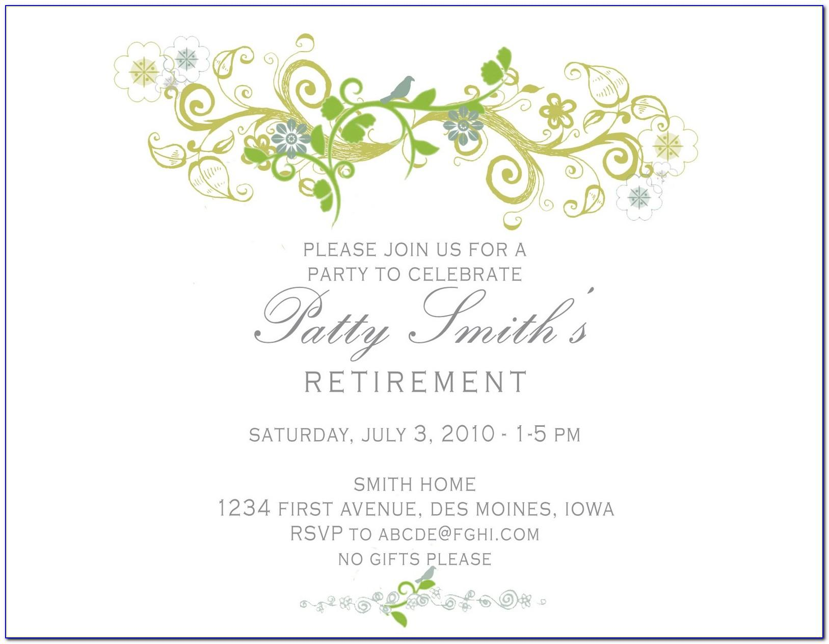 Retirement Template Invitations Flyer Free