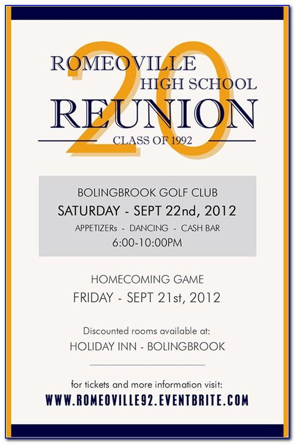 Reunion Invitation Template In Word