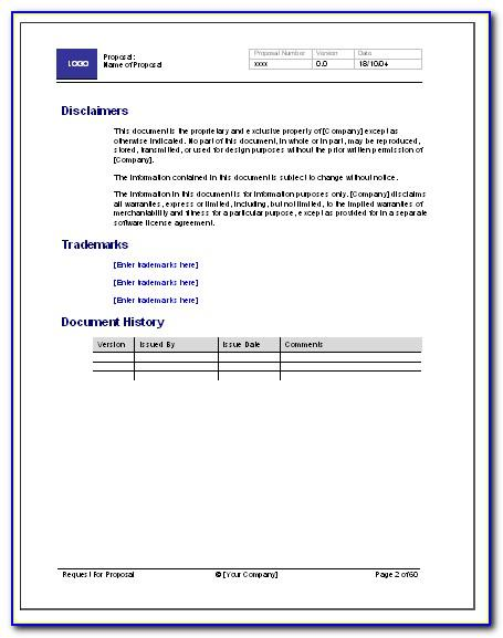 Rfp Template For Software Purchase