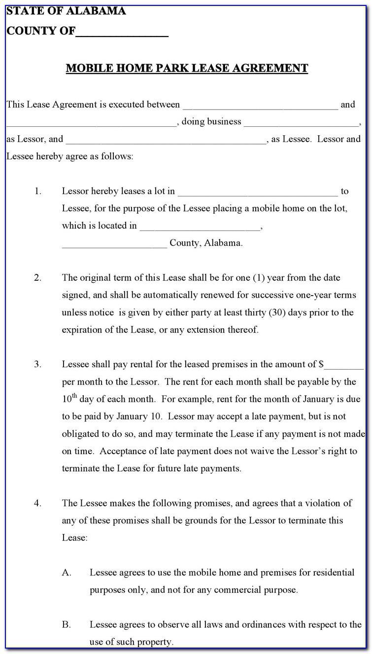 Rv Park Rental Agreement Template
