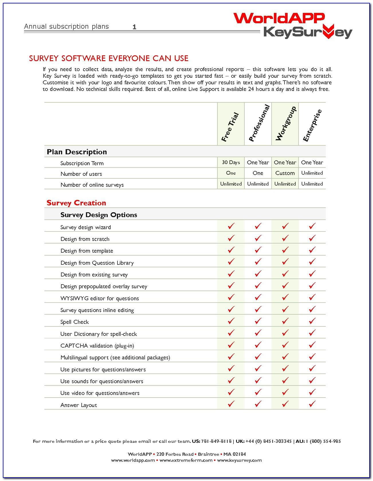 Sample Survey Templates Microsoft Word
