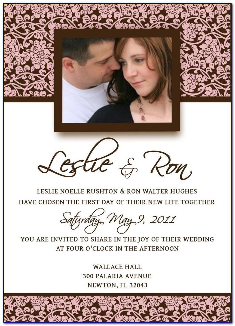 Sample Wedding Invitation Format Philippines