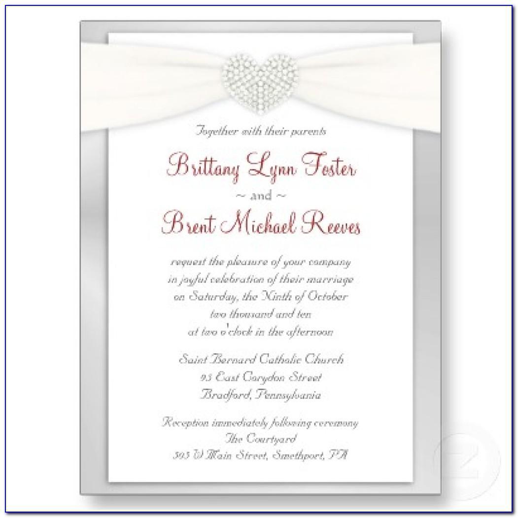 Sample Wedding Invitation Template