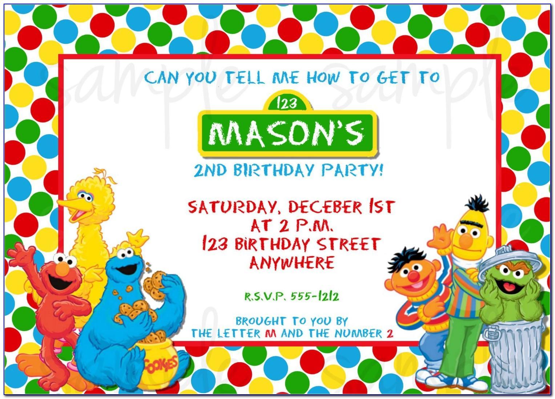 Sesame Street Free Invitation Templates