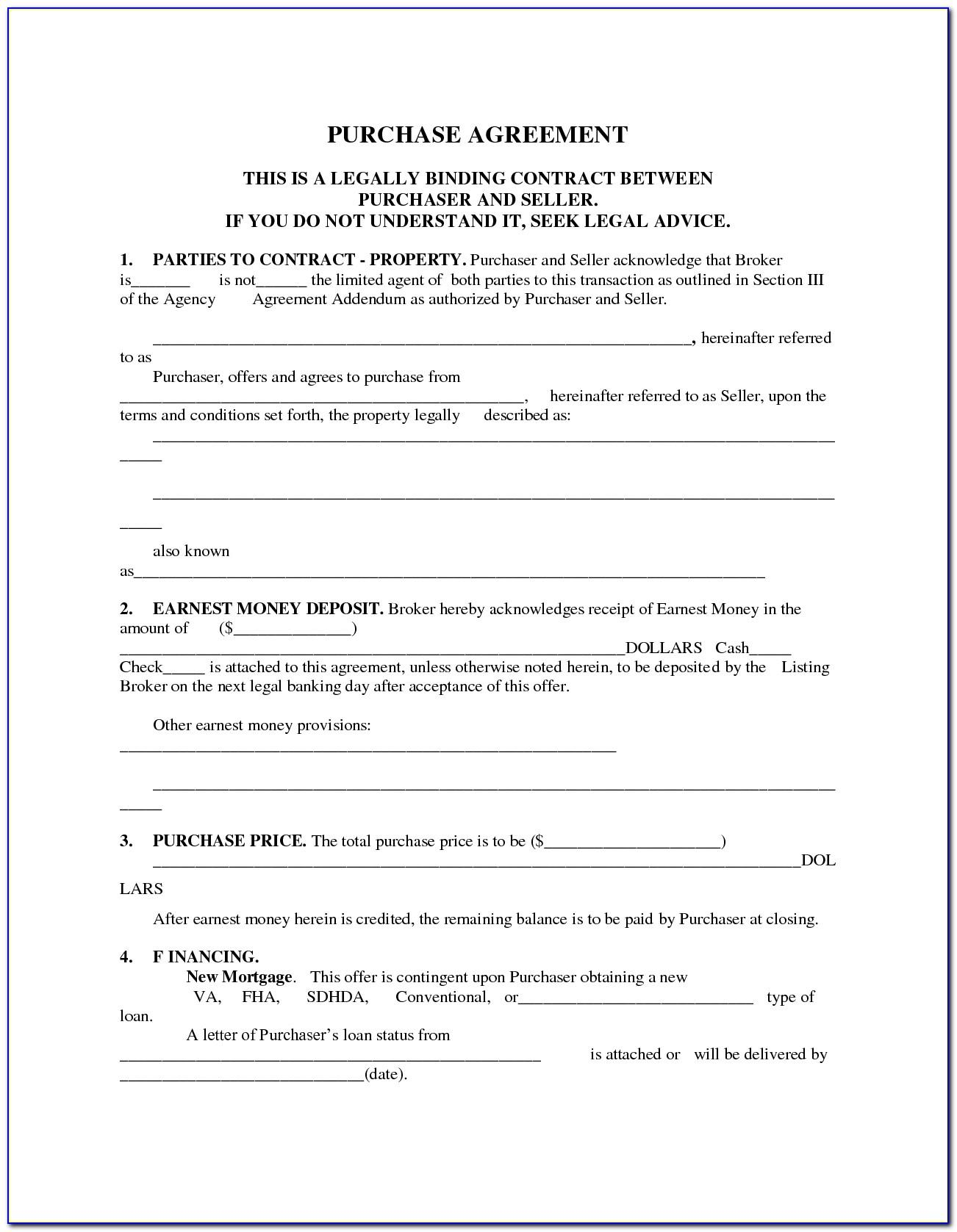 Share Purchase Agreement Template Free