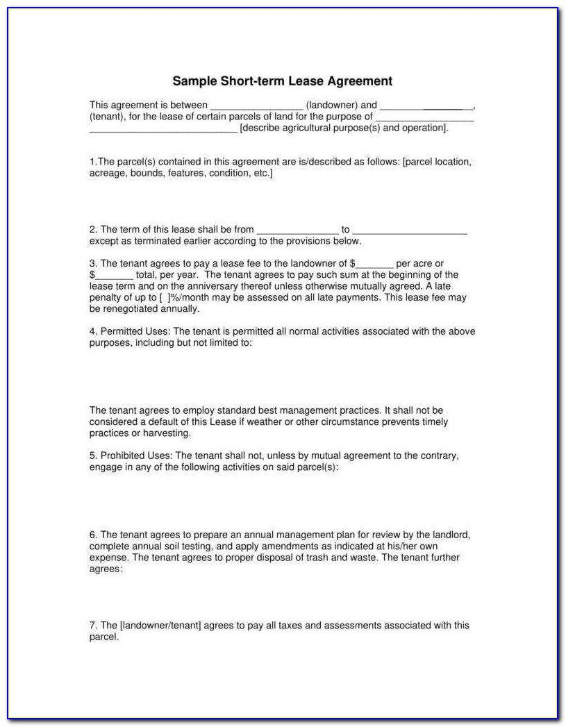 Simple Farm Land Lease Agreement Form Philippines